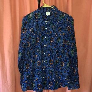 NWOT J. Crew perfect shirt button up